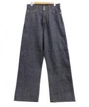 CINOH(チノ)の古着「HI WAIST WIDE DENIM」|インディゴ