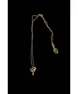 4℃(ヨンドシー)の古着「ハートネックレス」 ゴールド