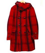MONTEDORO RED(モンテドーロ レッド)の古着「ダッフルコート」 レッド×ブラック