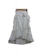 FRAY ID(フライアイディー)の古着「フリルプリーツスカート」 ホワイト