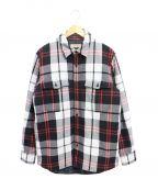BURBERRY()の古着「CPOシャツジャケット」|ブラック