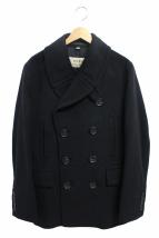 BURBERRY(バーバリー)の古着「カシミヤ混Pコート」 ブラック