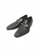 GUCCI(グッチ)の古着「靴・シューズ ビットローファー」 ブラウン