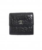 CHANEL(シャネル)の古着「3つ折り財布」 ブラック
