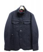 PEUTEREY(ピューテリー)の古着「ウールジャケット」|ネイビー