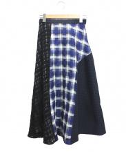 ENFOLD(エンフォルド)の古着「スカート」|ネイビー×ブラック