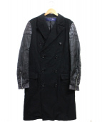 JUNYA WATANABE CdG MAN(ジュンヤワタナベ コムデギャルソン マン)の古着「切替トレンチコート」|ブラック