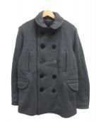 BROWN'S BEACH JACKET(ブラウンズビーチジャケット)の古着「Pコート」|グレー