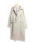Seya(セヤ)の古着「Padded coat with belt」|ベージュ