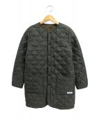 ARMEN(アーメン)の古着「裏フリースノーカラーキルティングコート」