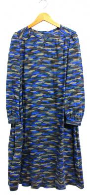 mina perhonen(ミナペルホネン)の古着「ブラウスワンピース」