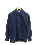 PHENOMENON(フェノメノン)の古着「コーデュロイフリンジシャツ」