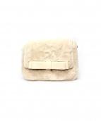 MAISON DE REEFUR(メゾンドリーファー)の古着「ダブルリボンファーフラップバッグ」|アイボリー