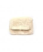 MAISON DE REEFUR(メゾン ド リーファー)の古着「ダブルリボンファーフラップバッグ」|アイボリー