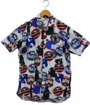 COMME des GARCONS SHIRT(コムデギャルソンシャツ)の古着「総柄S/Sシャツ」