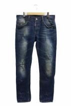 DSQUARED2(ディースクエアード)の古着「USED加工デニムパンツ」|インディゴ