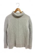 PHIGVEL(フィグベル)の古着「フィッシャーマンズセーター」 ベージュ