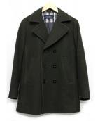 NEWYORKER(ニューヨーカー)の古着「メルトンPコート」|オリーブ