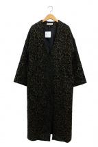 CIEL'AIR(シエルエアー)の古着「Vカラーオーバーコート」|ブラック