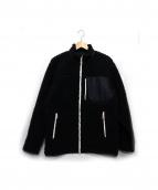 DESCENTE(デサント)の古着「ボアフリースジャケット」|ブラック