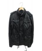 wjk(ダブルジェイケイ)の古着「M66/オイルドホースレザージャケット」 ブラック