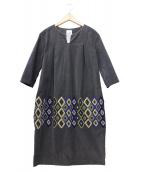 mina perhonen(ミナペルホネン)の古着「ドレスワンピース」|グレー