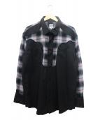 AiE(エーアイイー)の古着「ウエスタンシャツジャケット」|ブラック×グレー×レッド