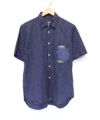 COMME des GARCONS HOMME PLUS(コムデギャルソンオムプリュス)の古着「ドットS/Sシャツ」|ネイビー