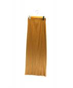 PLEATS PLEASE(プリーツ プリーズ)の古着「プリーツスカート」|ベージュ