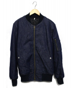 Johnbull(ジョンブル)の古着「デニムMA-1ジャケット」|インディゴ