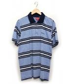 Supreme(シュプリーム)の古着「Heather Stripe Polo」|ブルー×ネイビー