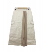 CINOH(チノ)の古着「プリーツビッグポケットスカート」 ベージュ