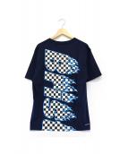F.C.R.B.(エフシーリアルブリストル)の古着「ポケットTシャツ」|ネイビー