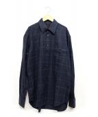 BRIONI(ブリオーニ)の古着「フランネルシャツ」|ネイビー