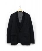 COMME des GARCONS HOMME DEUX(コムデギャルソンオムデュー)の古着「ウール混テーラードジャケット」 ネイビー