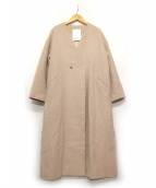 ELENDEEK(エレンディーク)の古着「Vロングビーバーコート」 ピンク