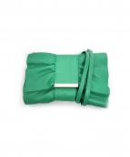 FURLA(フルラ)の古着「リボン型ショルダーポーチ」|グリーン