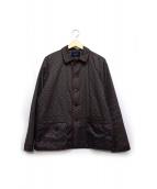 Jhon UNDERCOVER(ジョン アンダーカバー)の古着「Cサテン総柄中綿パジャマSH」|ネイビー×パープル