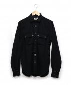 NUDIE JEANS(ヌーディジーンズ)の古着「ウールシャツ」|ブラック