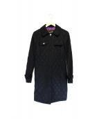 COACH(コーチ)の古着「キルティングコート」|ブラック