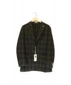 L.B.M.1911(エルビーエム1911)の古着「ライトウールチェックジャケット」|ブラウン