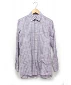 BURBERRY LONDON(バーバリーロンドン)の古着「チェックBDシャツ」|パープル
