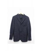 ORIAN vintage(オリアン ヴィンテージ)の古着「ウール混テーラードジャケット」 ネイビー