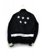 uniform experiment(ユニフォーム エクスペリメント)の古着「5 STAR MA-1」|ブラック×マルチカラー