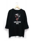 TENDERLOIN(テンダーロイン)の古着「CAHULAWASSEE RIVER TEE」|ブラック