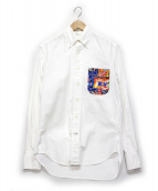 GITMAN BROS VINTAGE(ギットマン ヴィンテージ)の古着「ポケット切替ボタンダウンシャツ」|ホワイト
