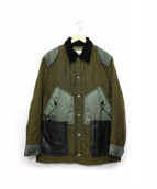 COACH(コーチ)の古着「Green Quilted Anorak」|オリーブ