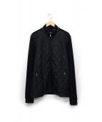 BOSS HUGO BOSS(ボス ヒューゴボス)の古着「袖切替キルティングジャケット」|ブラック