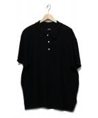 BOSS HUGO BOSS(ボスヒューゴボス)の古着「鹿の子ポロシャツ」 ブラック