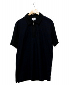 LANVIN en Bleu(ランバンオンブル)の古着「ハーフジップポロシャツ」 ブラック×ネイビー